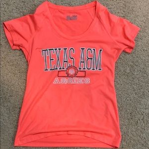Texas A&M under armor shirt